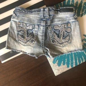 Faded Blue Jean Shorts Size 5